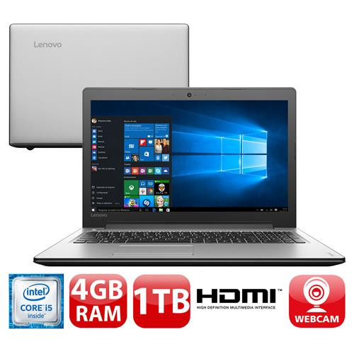 "Notebook Lenovo Ideapad 310 com Intel® Core™ i5-6200U, 4GB, 1TB, HDMI, Wireless, LED 15.6"" e Windows 10"
